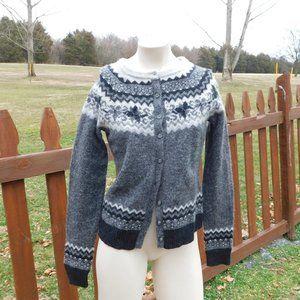 Eddie Bauer Cardigan Lambswool Sweater Medium